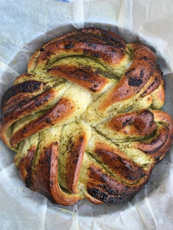 Photo for the event - Beginners Bread - Pesto Rose Braided Bread